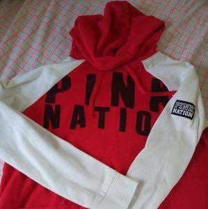 VS Pink XS cropped hoodie
